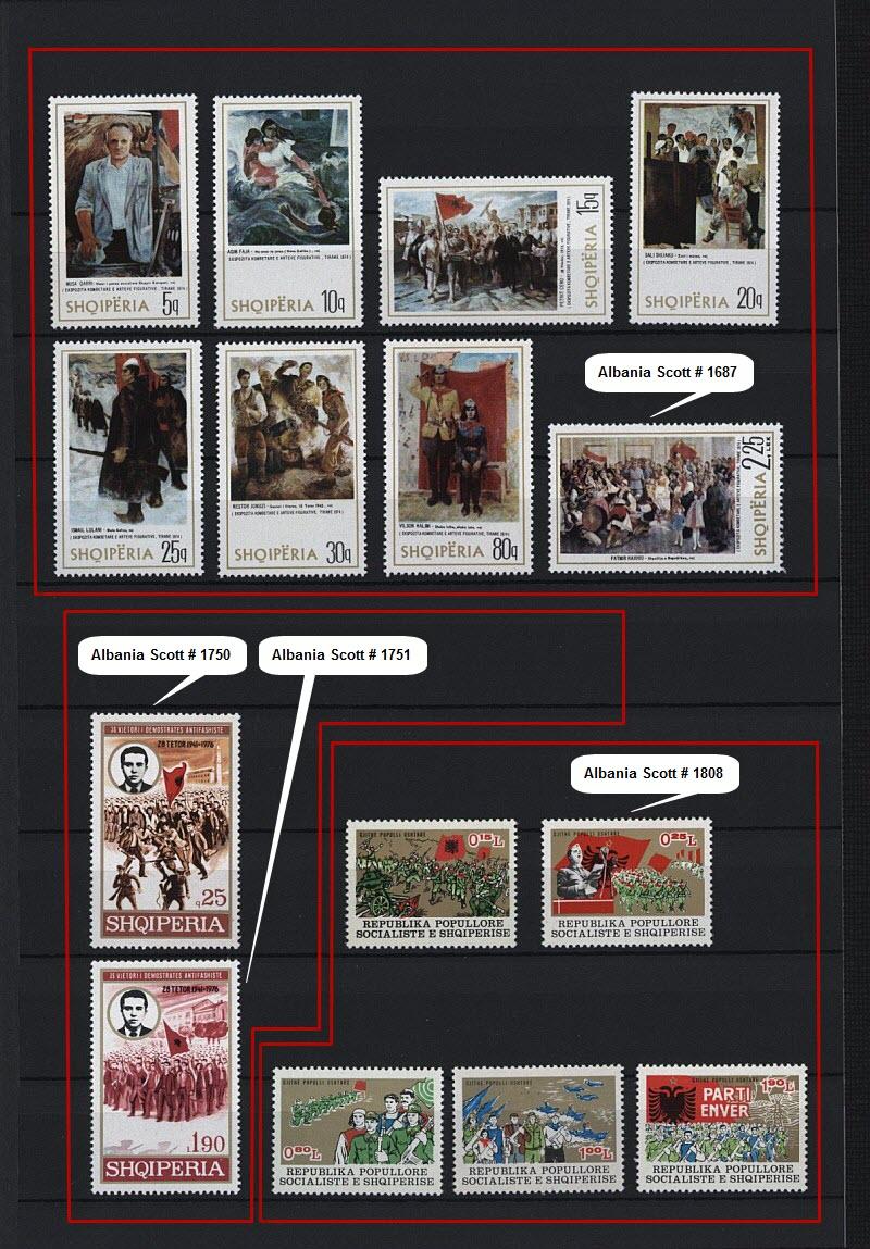 Энвер Ходжа на почтовых марках, выпущенных в Албании и других странах мира. Часть # 6.