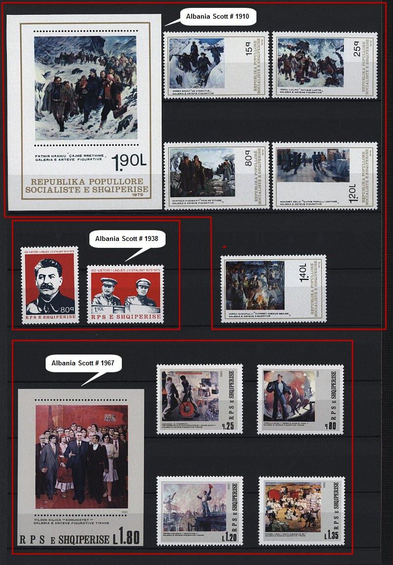 Энвер Ходжа на почтовых марках, выпущенных в Албании и других странах мира. Часть # 8.