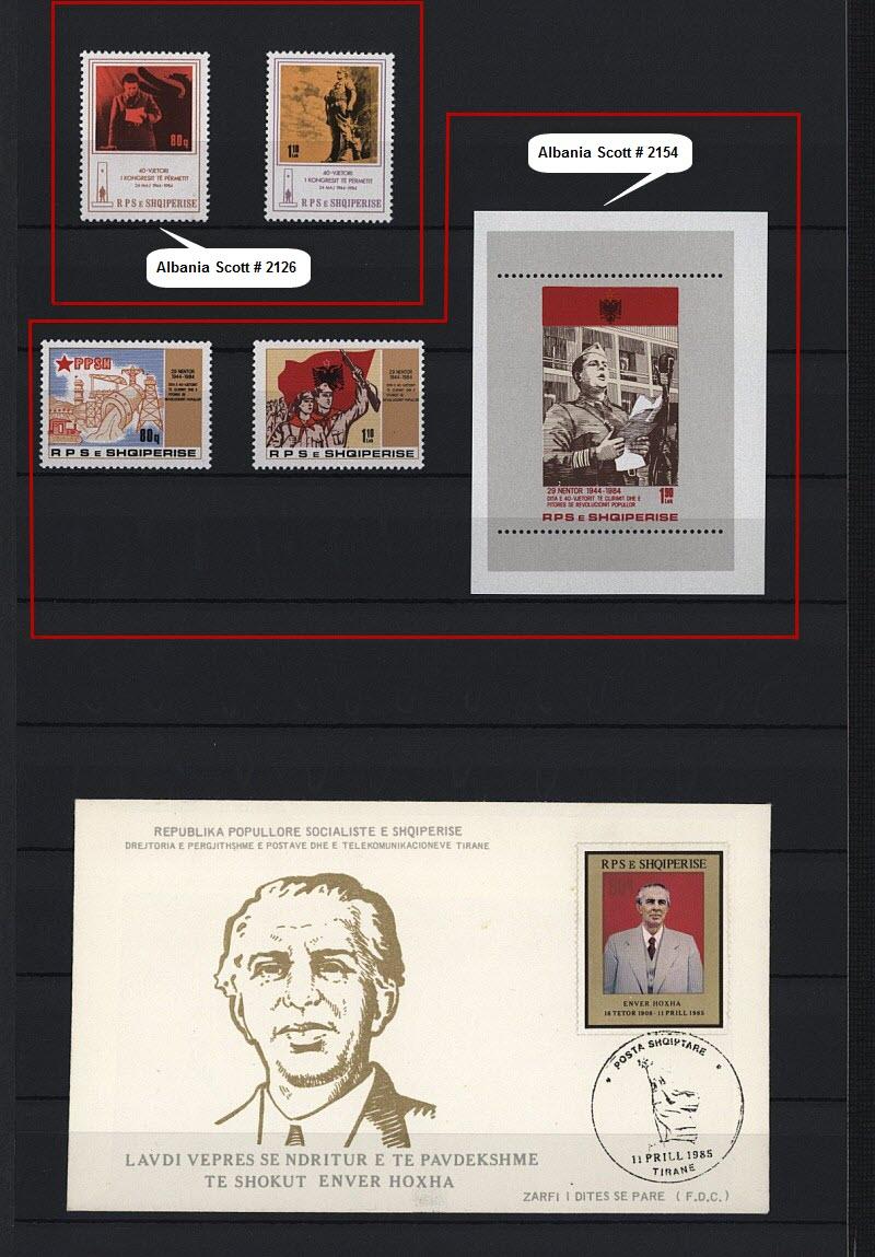 Энвер Ходжа на почтовых марках, выпущенных в Албании и других странах мира. Часть # 9.