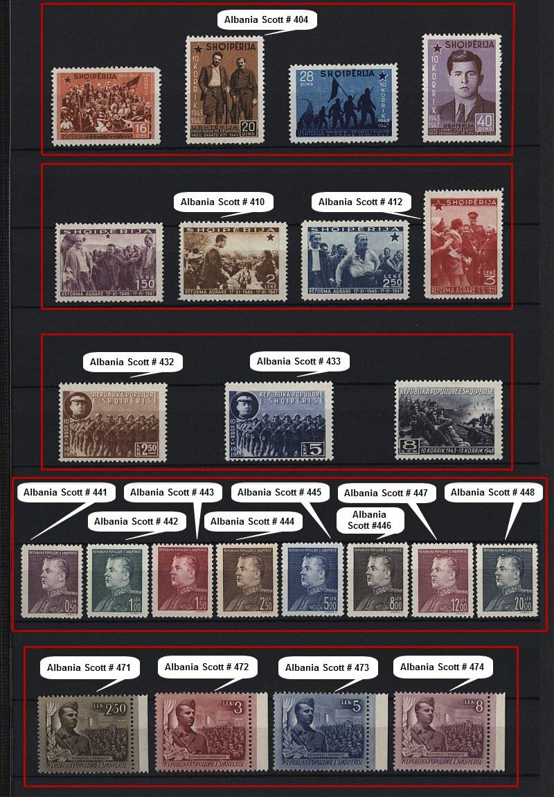 Энвер Ходжа на почтовых марках, выпущенных в Албании и других странах мира. Часть # 1.