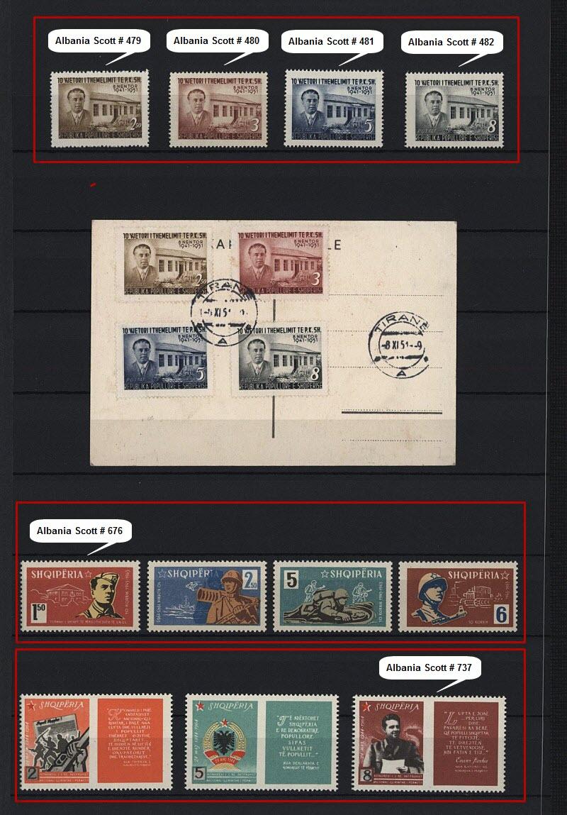 Энвер Ходжа на почтовых марках, выпущенных в Албании и других странах мира. Часть # 2.
