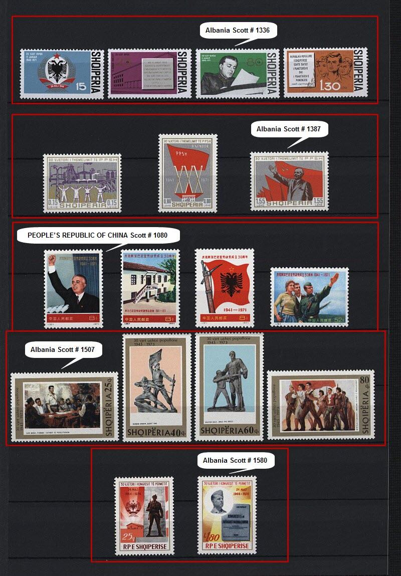 Энвер Ходжа на почтовых марках, выпущенных в Албании и других странах мира. Часть # 4.