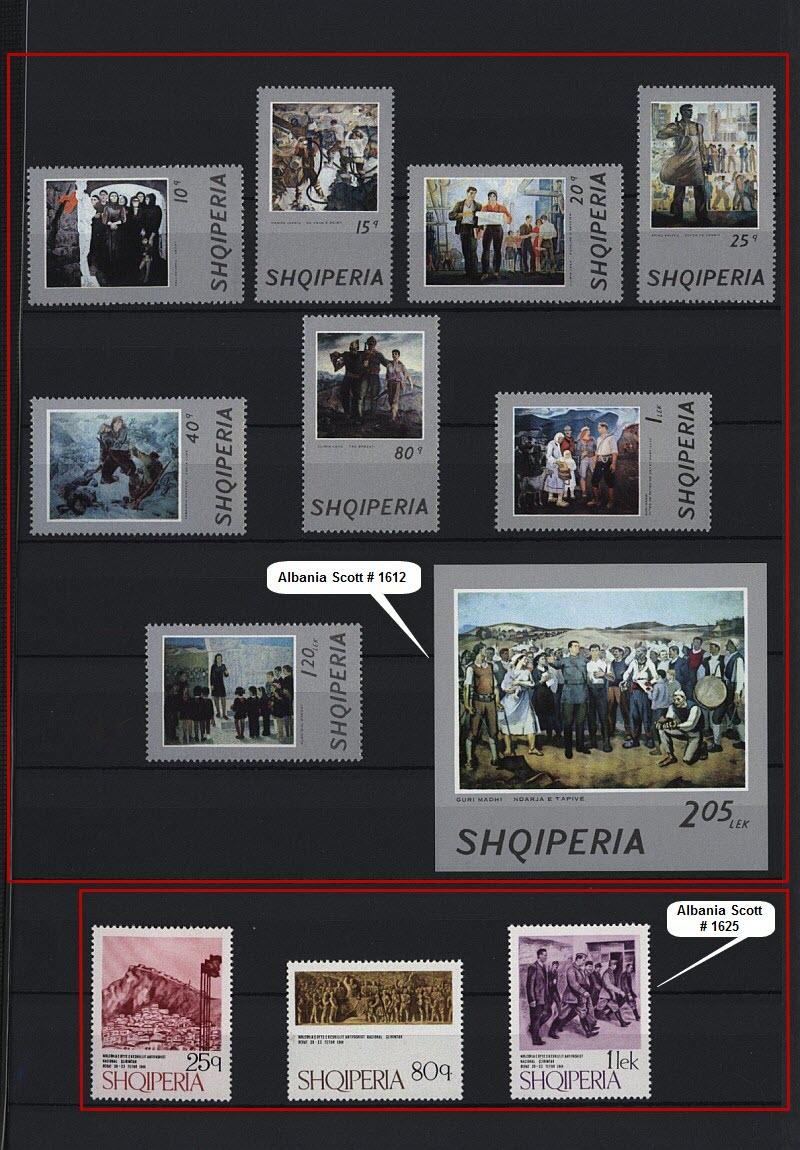 Энвер Ходжа на почтовых марках, выпущенных в Албании и других странах мира. Часть # 5.